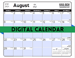 Digital Jewish Calendar 5782 (Downloadable Calendar)